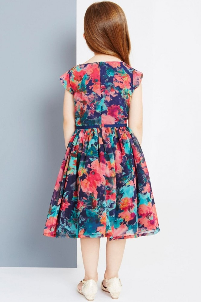 Little MisDress Autumn Flower Print Prom Dress