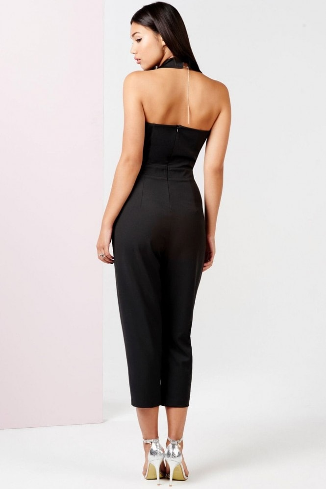 Outlet Girls On Film Black Tuxedo Jumpsuit