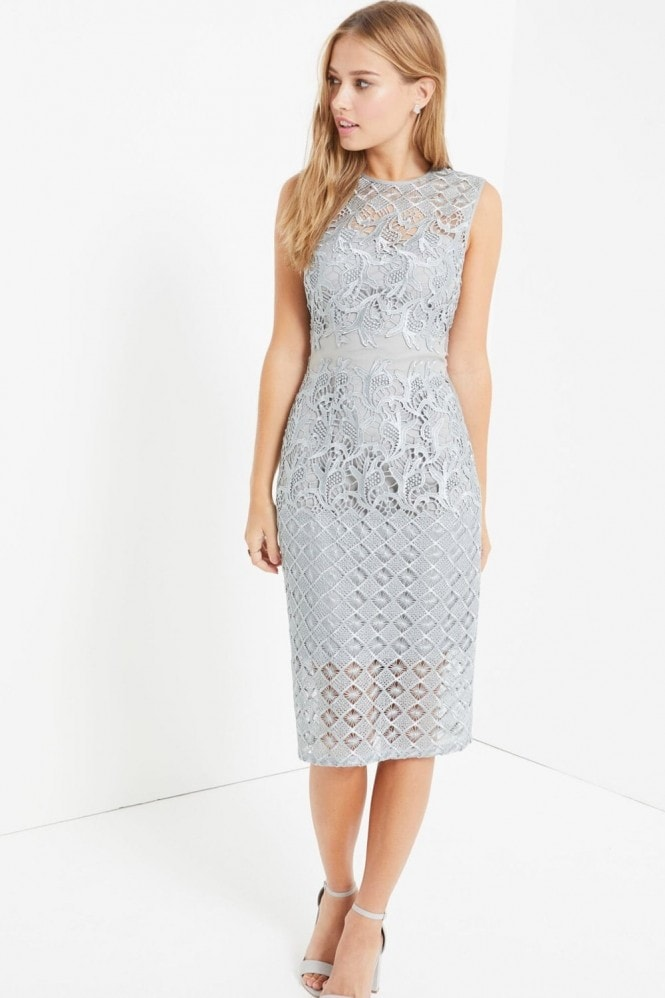 Little Mistress Waterlily Crochet Midi Dress