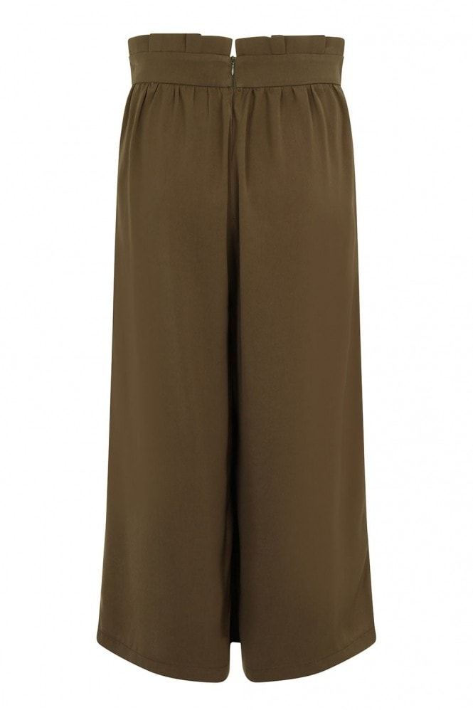 Outlet Girls On Film Khaki Green Wide Leg Trousers