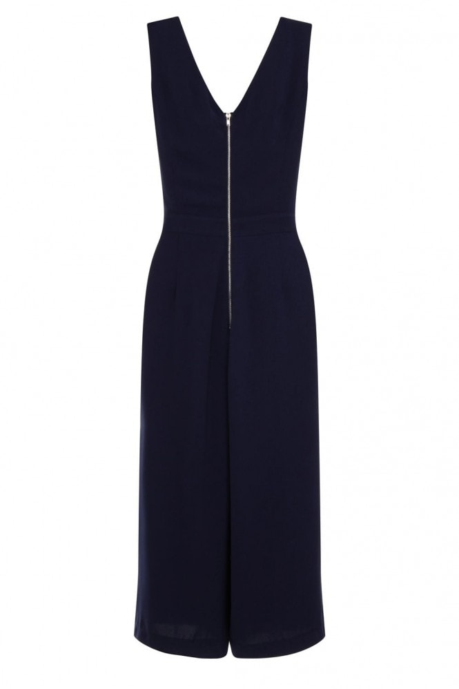 Outlet Girls On Film Navy Sleeveless Cut Out Jumpsuit