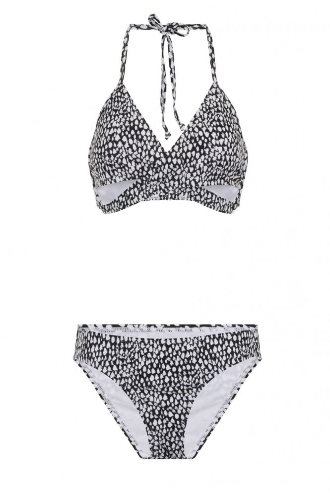 Little Mistress Swimwear Bralet style bikini in ebony and ivory print