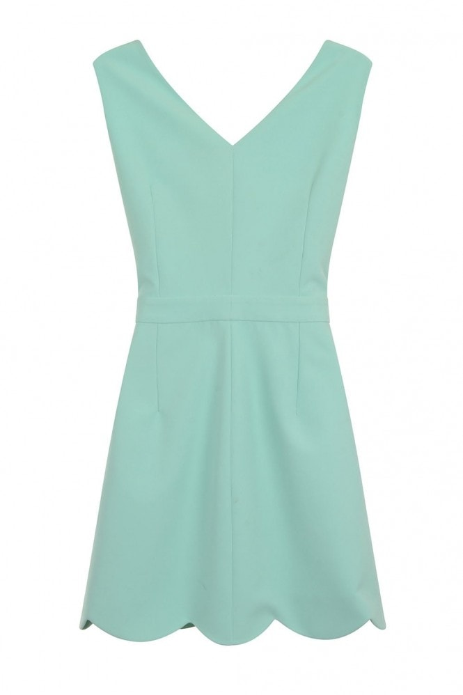 Outlet Girls On Film Mint Scallop Edge Cut Out Dress