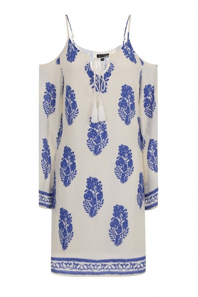 Outlet Girls On Film Paisley Print Flowy Boho Dress