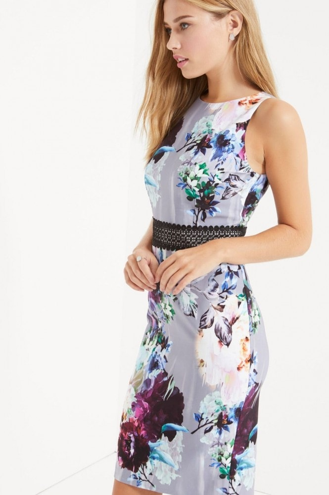 Little Mistress Floral Print Bodycon Dress