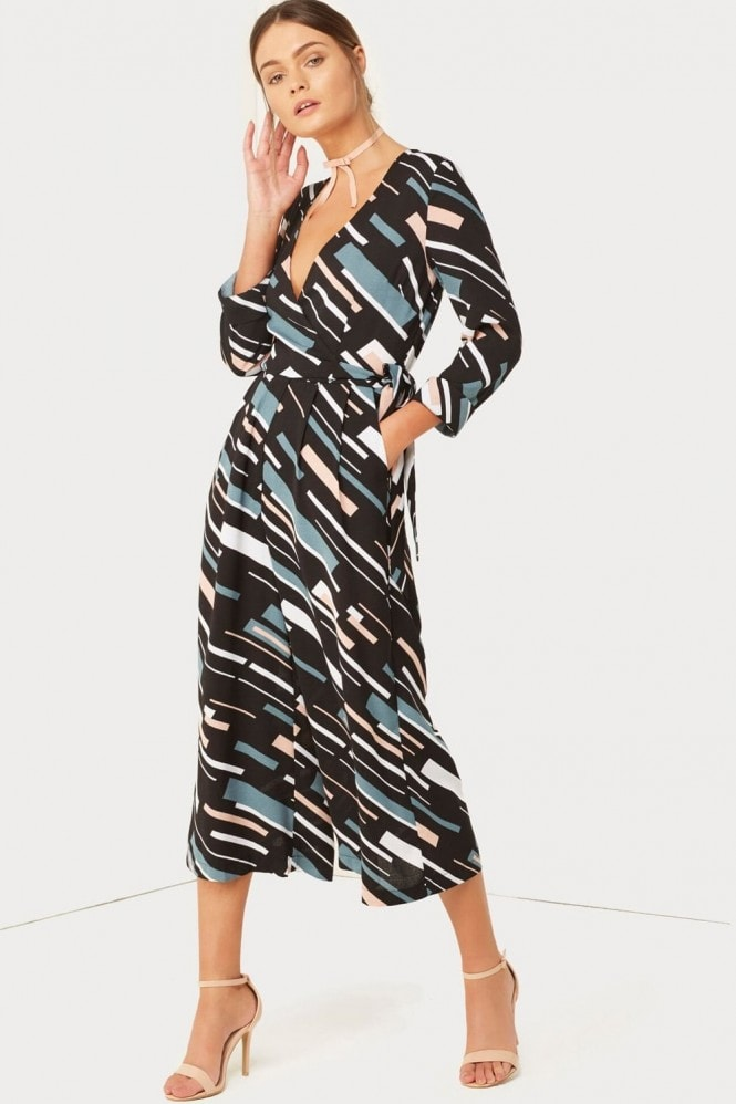 Outlet Girls On Film Geo Print Jumpsuit