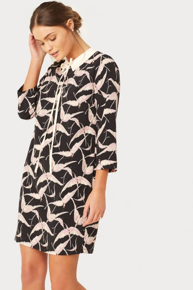 Girls on Film Bird Print Dress
