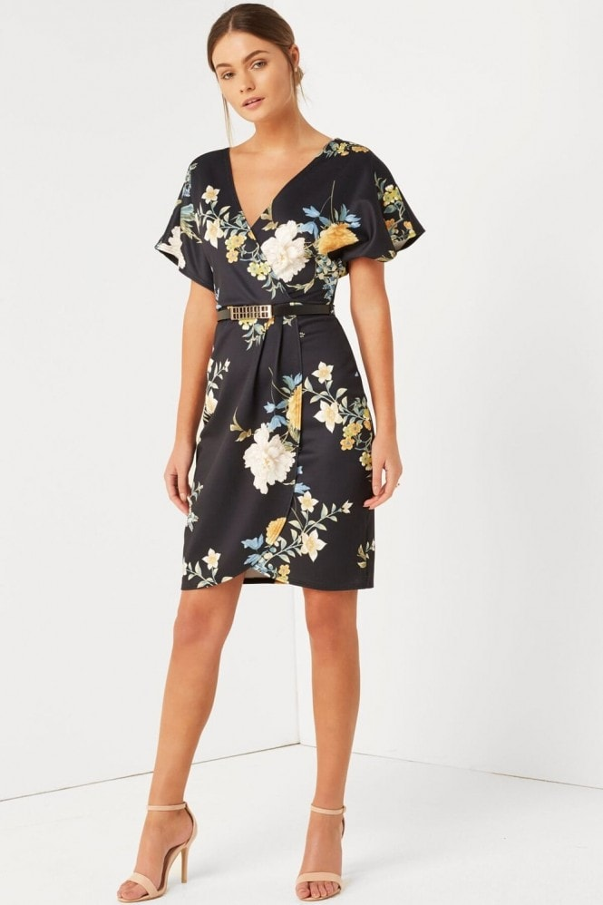 Girls on Film Print Wrap Dress