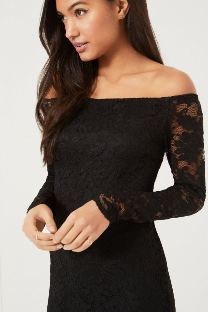 Girls on Film Black Lace Bodycon dress