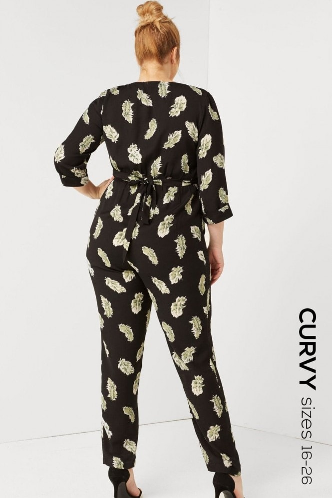 Outlet Girls On Film Feather Print Jumpsuit