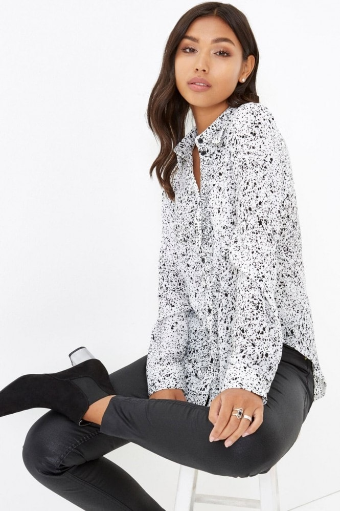 Outlet Girls On Film Spot Blouse
