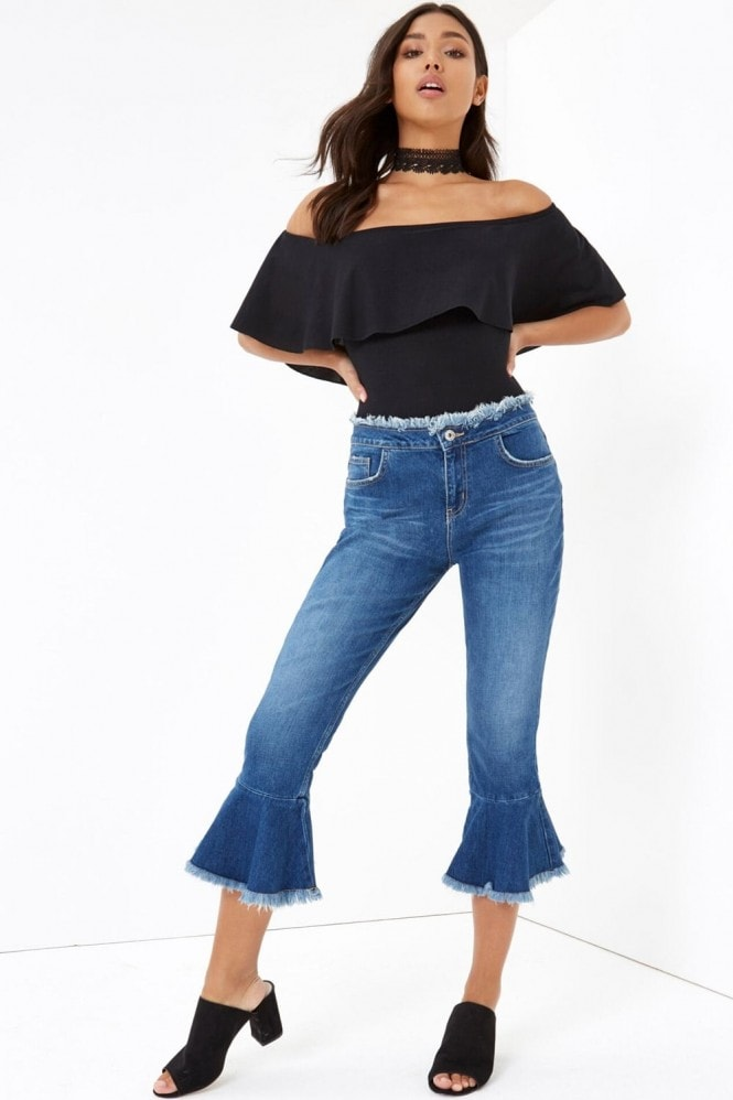 Outlet Girls On Film Black Off The Shoulder Bodysuit