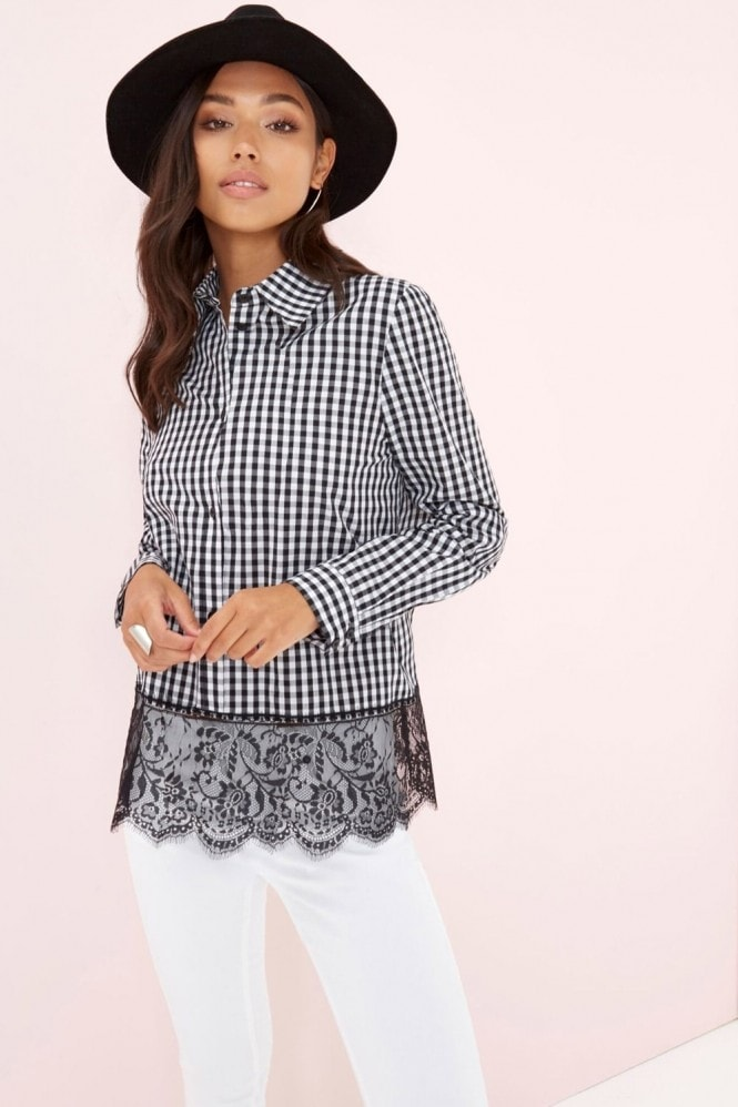 Outlet Girls On Film Check Shirt