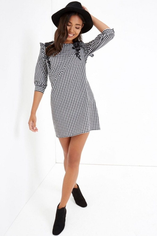 Girls on Film Check Mini Dress