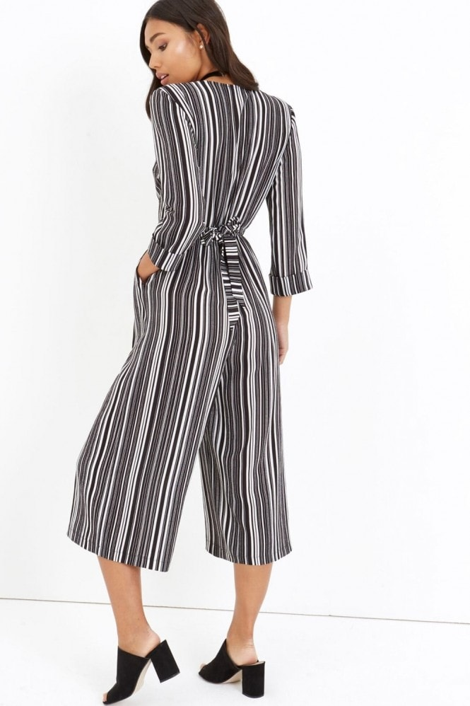 Girls on Film Stripe Jumpsuit