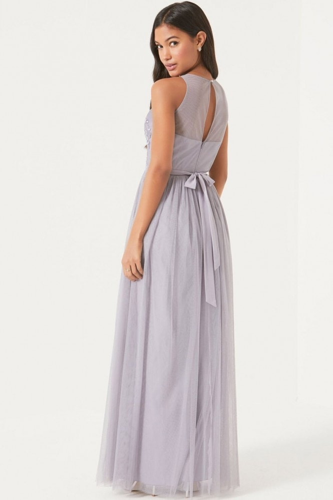 Little Mistress Purple Maxi Dress