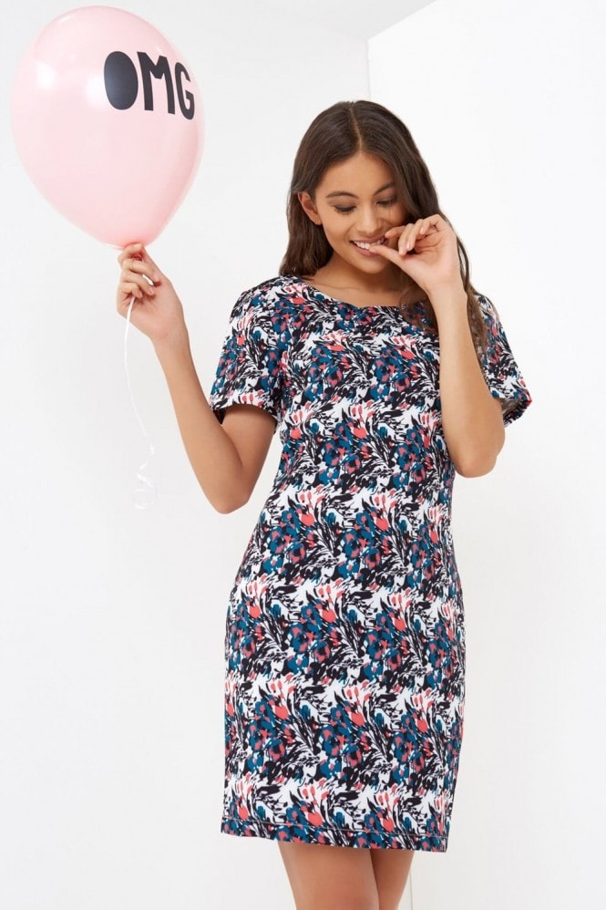 Girls on Film Floral Print Tunic Dress
