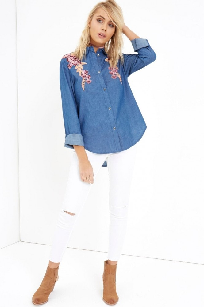 Girls on Film Denim Shirt