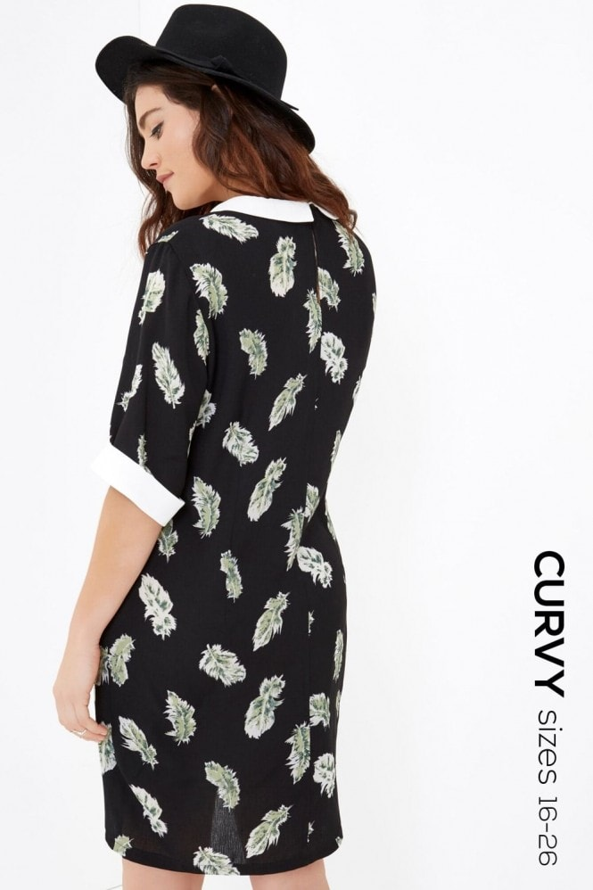 Outlet Girls On Film Feather Print Dress