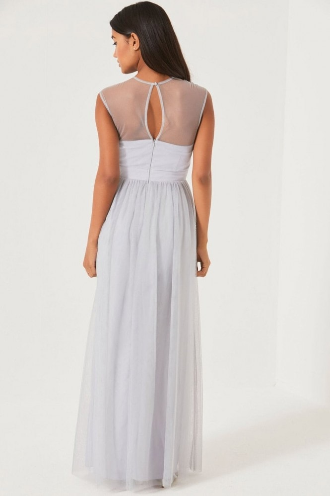 Little Mistress Grey Maxi Dress