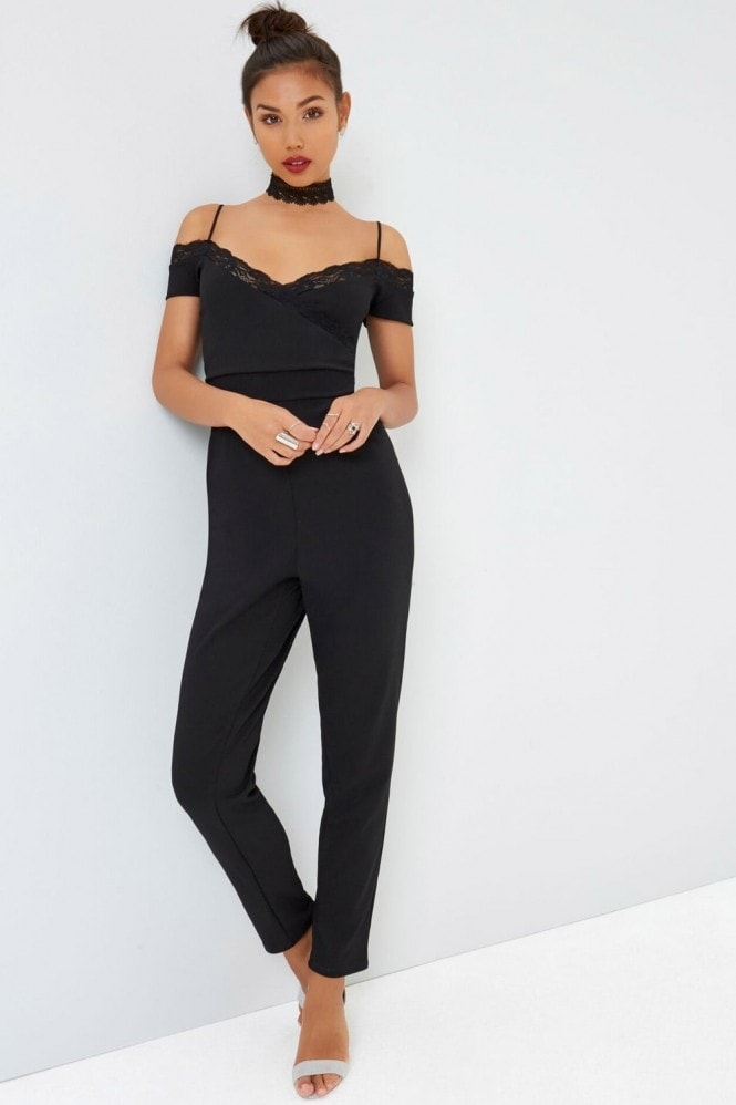 Outlet Girls On Film Black Jumpsuit