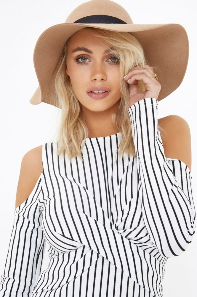 Girls on Film Stripe Midi Dress