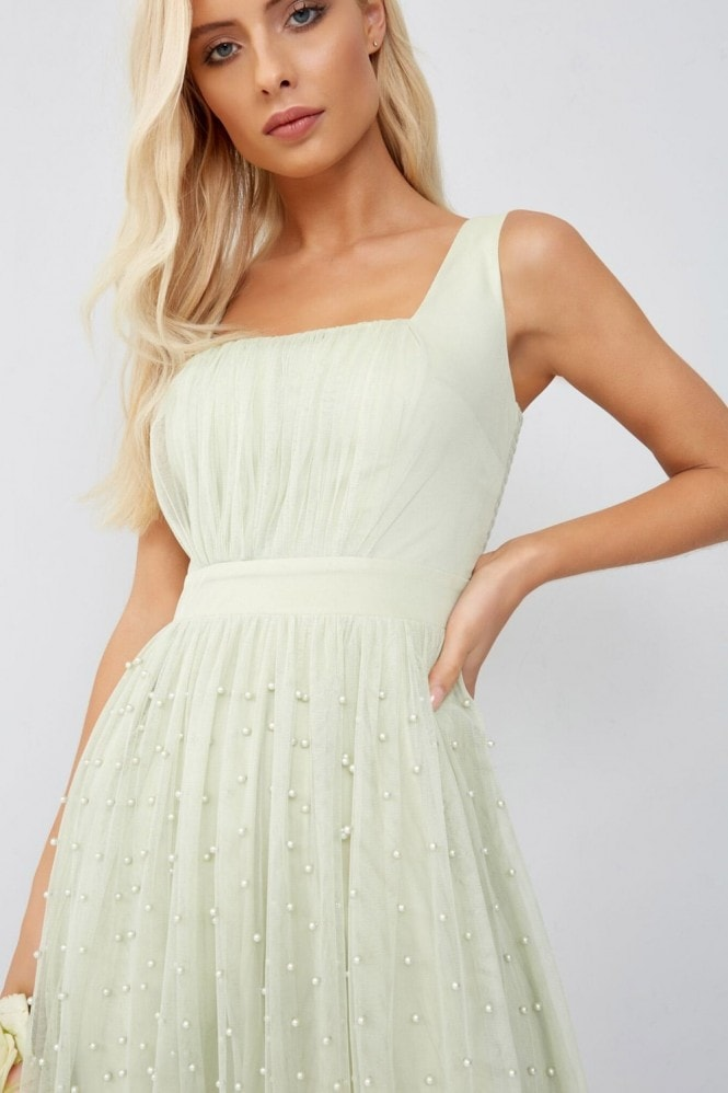 Little Mistress Green Midi Dress