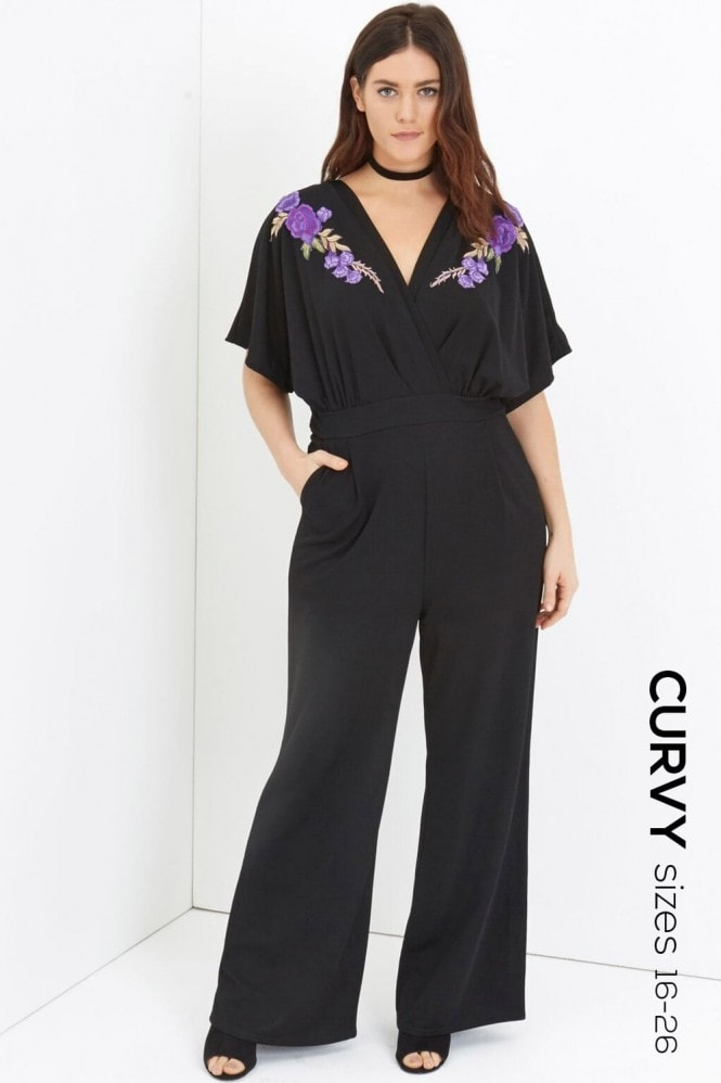 Girls On Film Curvy Black Jumpsuit