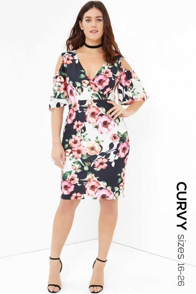 Outlet Girls On Film Floral Print Midi Dress