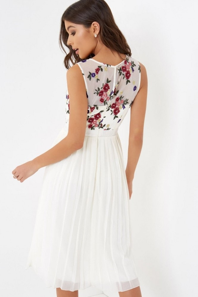 Little Mistress Embroidererd Midi Dress