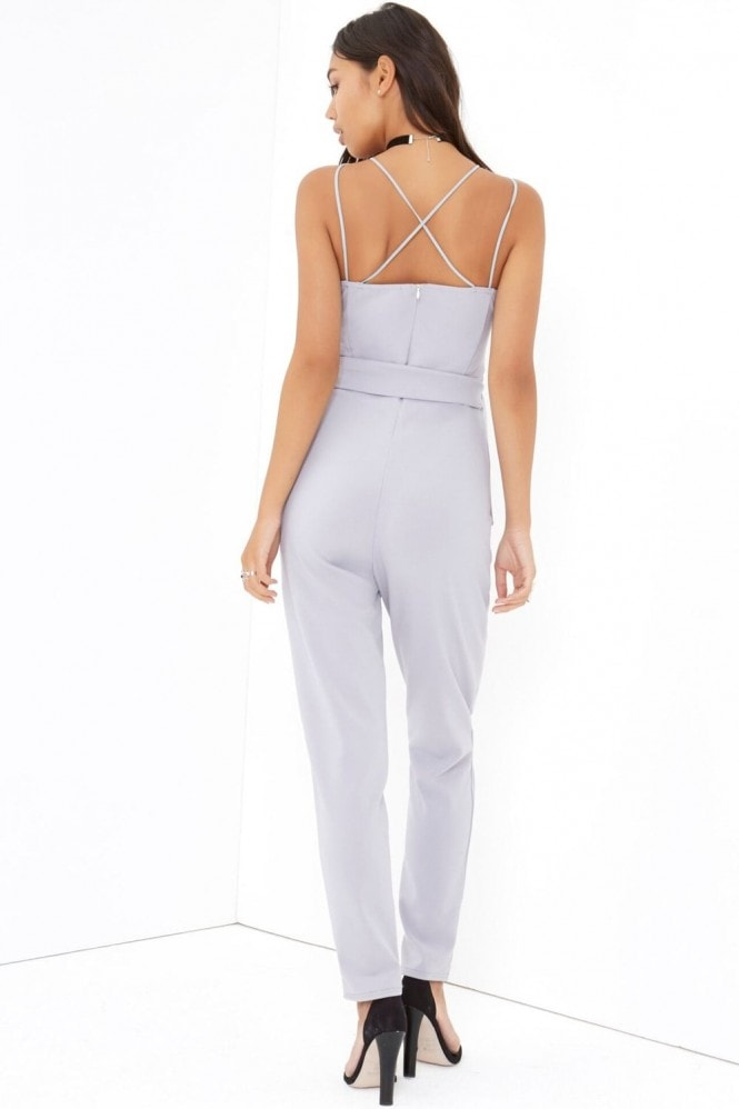 Girls on Film Grey Jumpsuit