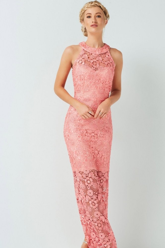 Outlet Paper Dolls Coral Maxi Dress