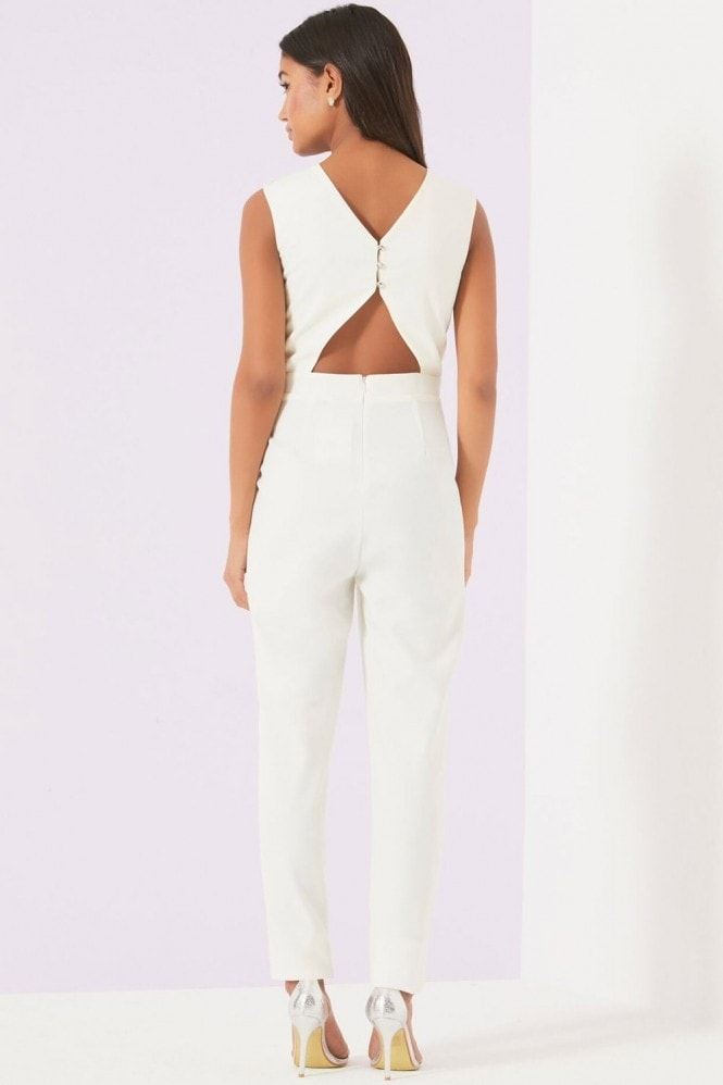 Little Mistress Cream Jumpsuit