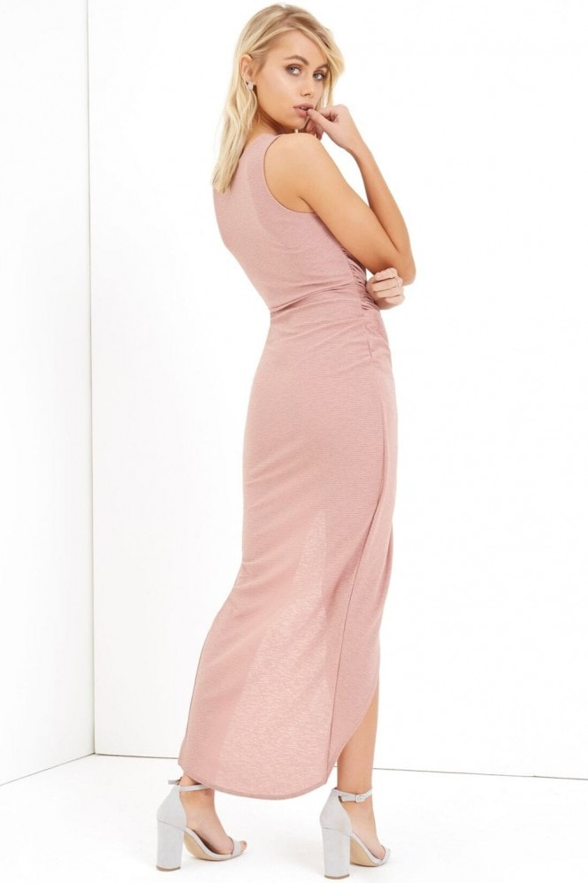 Girls on Film Blush Midi Dress