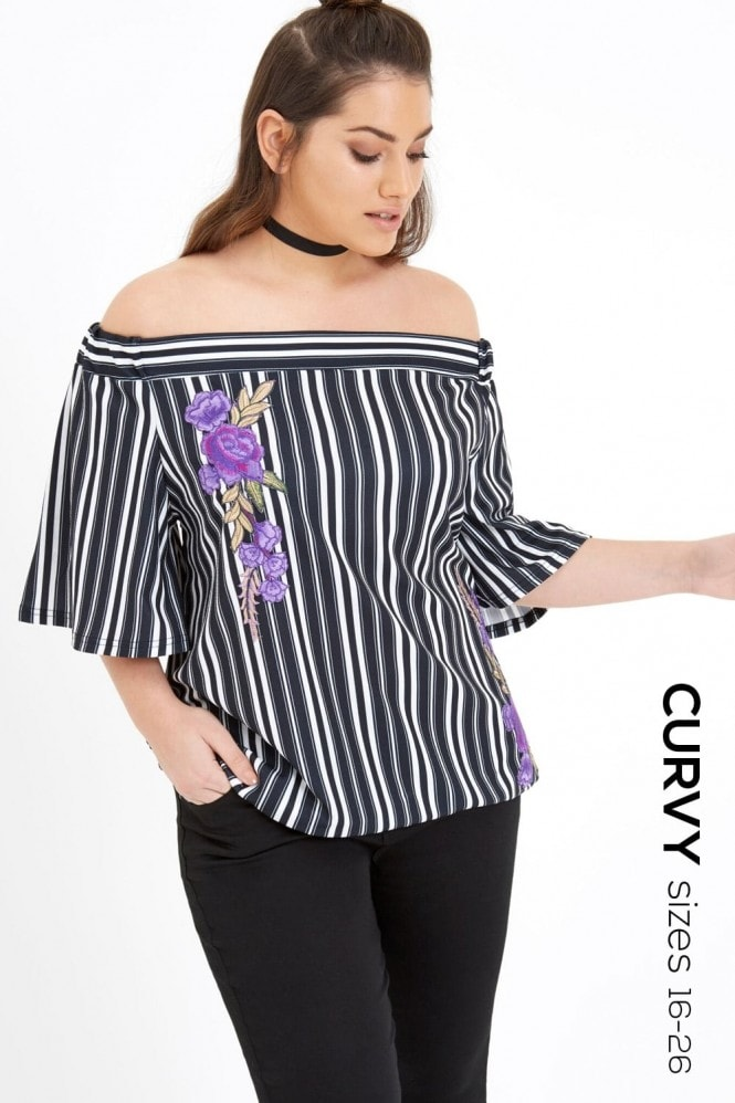 Outlet Girls On Film Stripe Top