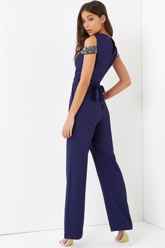 Little Mistress Navy Jumpsuit