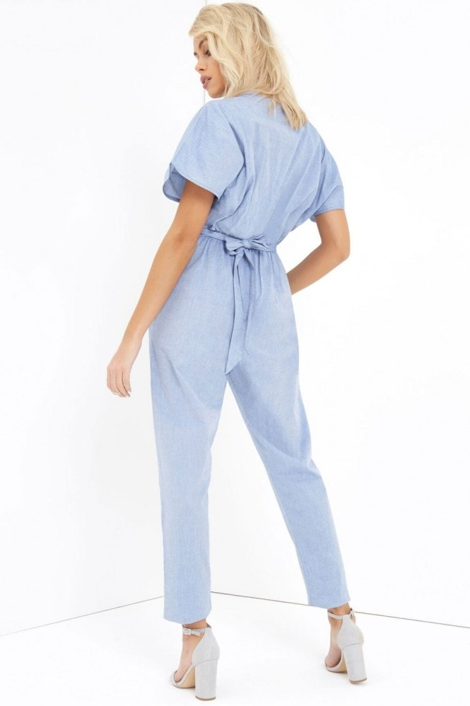 Girls on Film Denim Jumpsuit