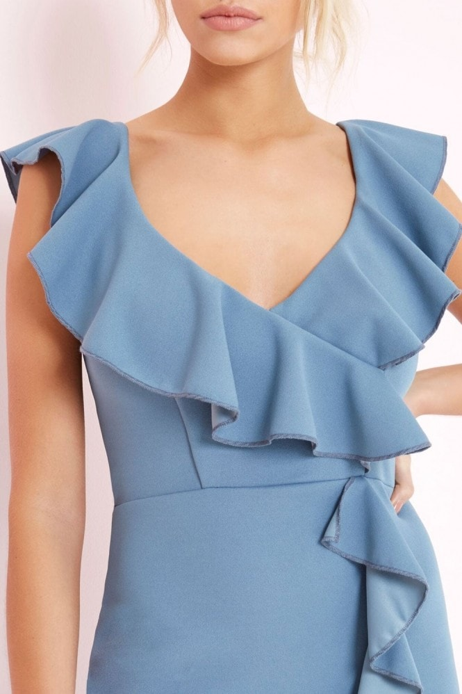 Girls on Film Blue Bodycon Dress