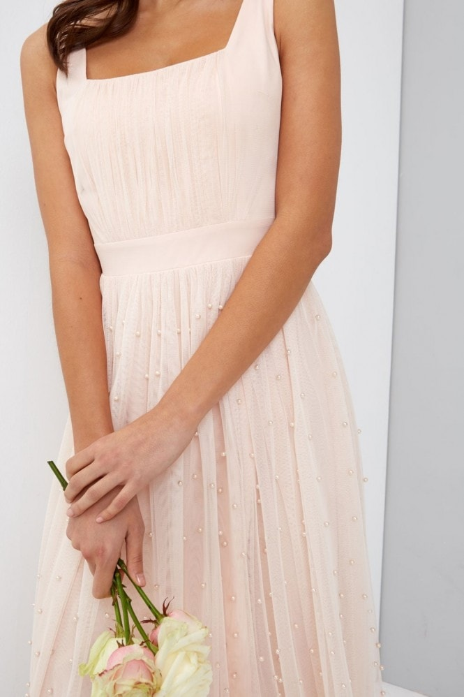 Little Mistress Nude Midi Dress