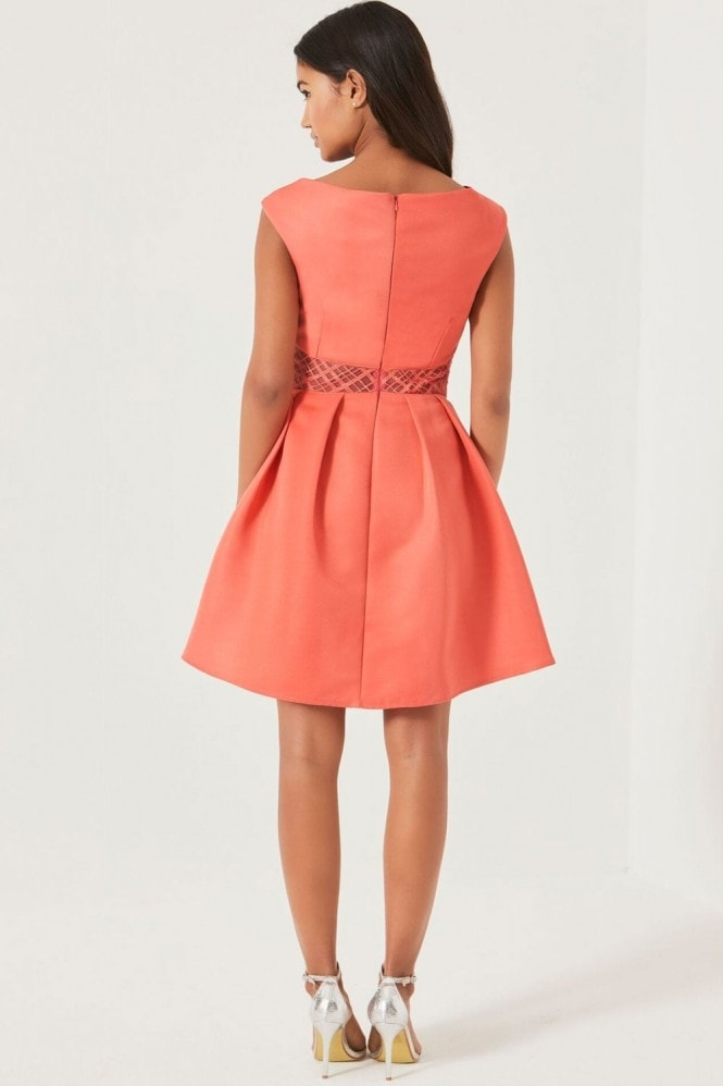 Little Mistress Pink Fit and Flare Dress