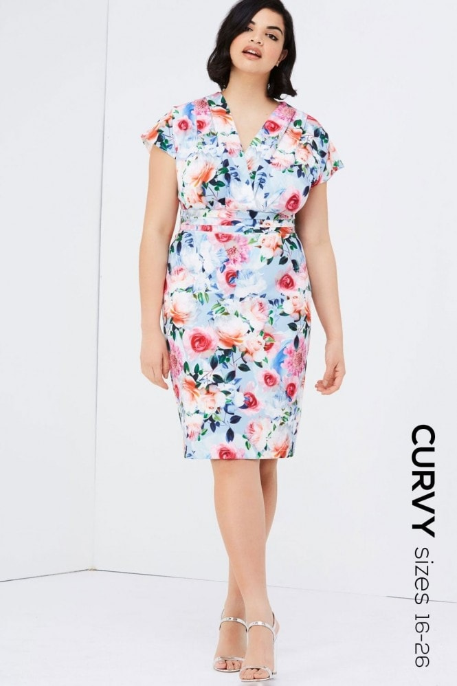 Paper Dolls Curvy Rose Print Dress