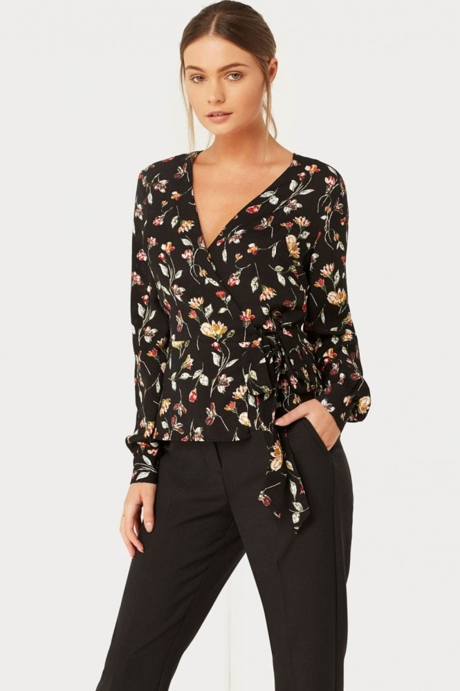 Girls on Film Floral Print Blouse