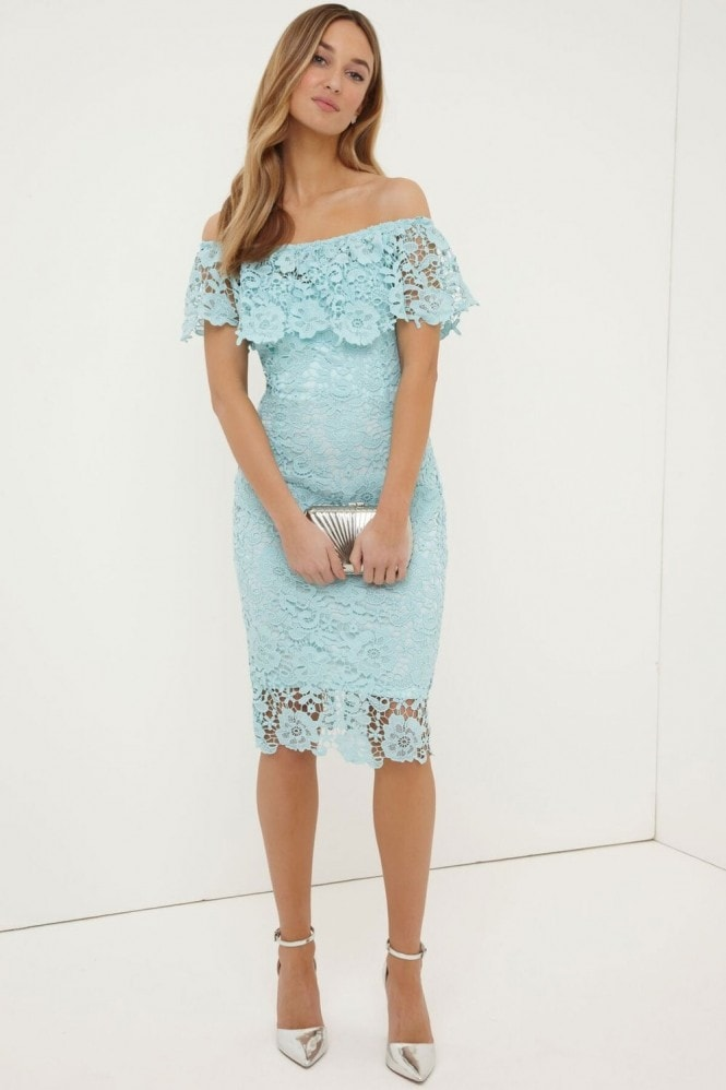 Paper Dolls Mint Bardot Dress