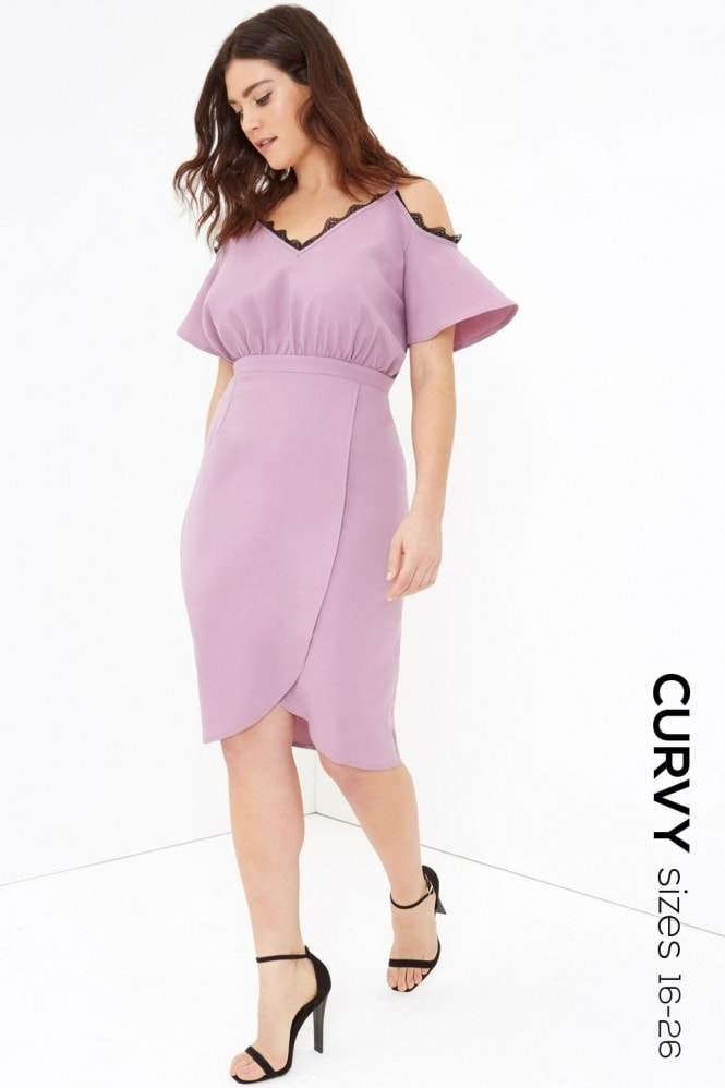 Outlet Girls On Film Pink Midi Dress