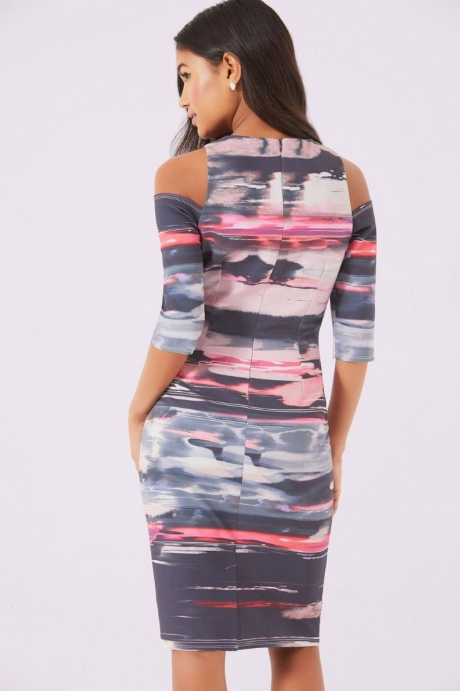 Little Mistress Print Bodycon Dress