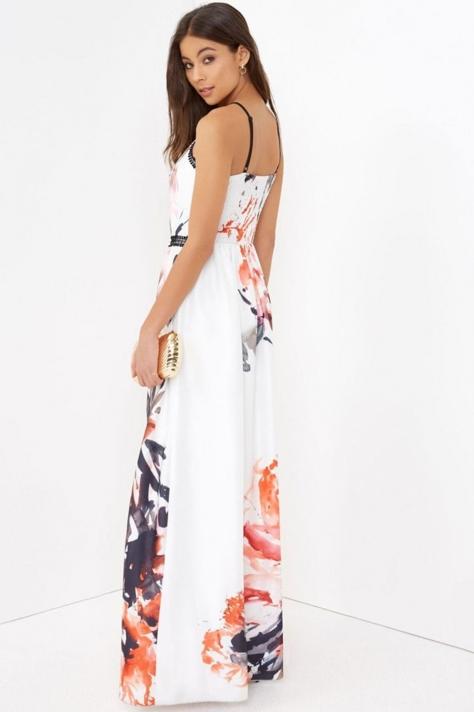 Little Mistress Ink Print Maxi Dress