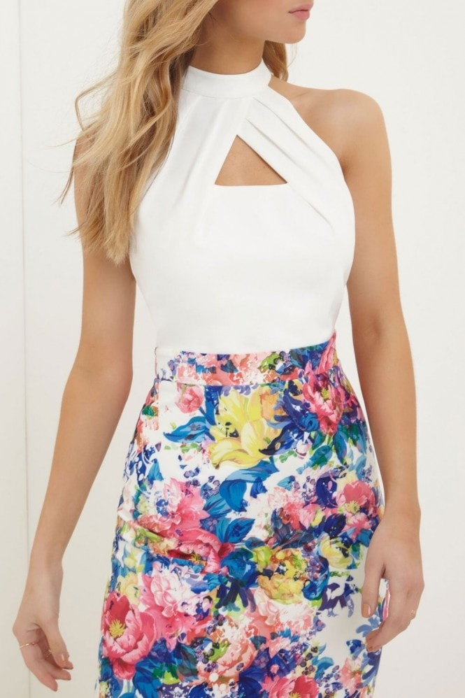 Paper Dolls Print Skirt Dress
