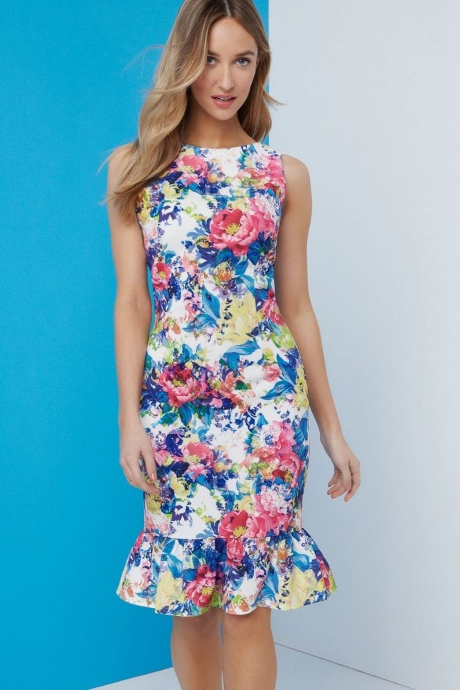 Paper Dolls Print Peplum Dress