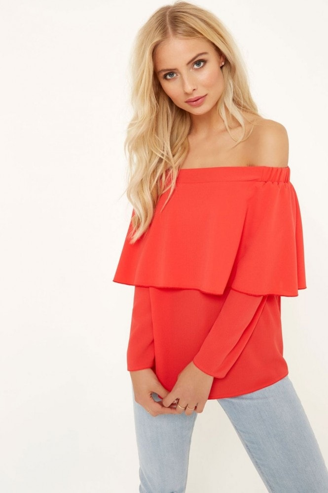 Girls on Film Coral Top