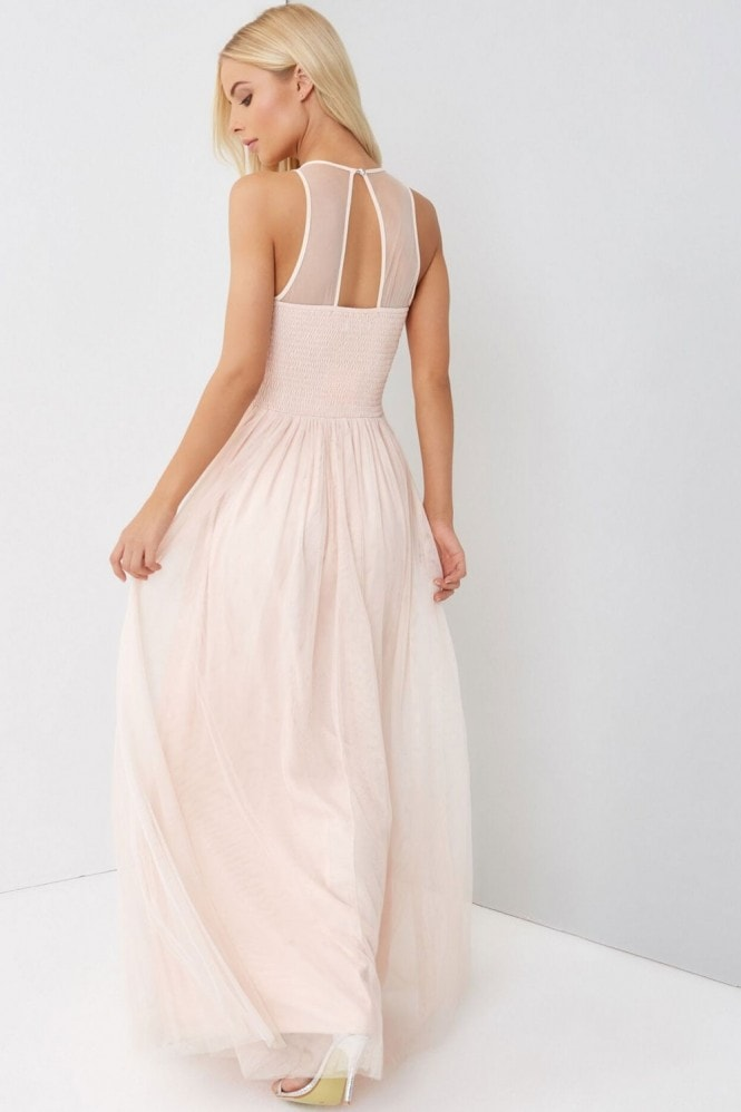 Little Mistress Nude Maxi Dress